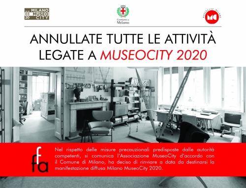 Annullamento Museocity 2020